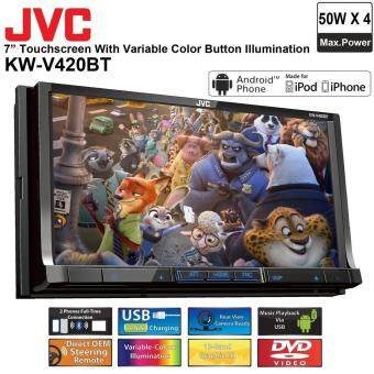 "Harga JVC KW-V420BT Multimedia Receiver 7"" WVGA Touch Panel Bluetooth CarPlayer"