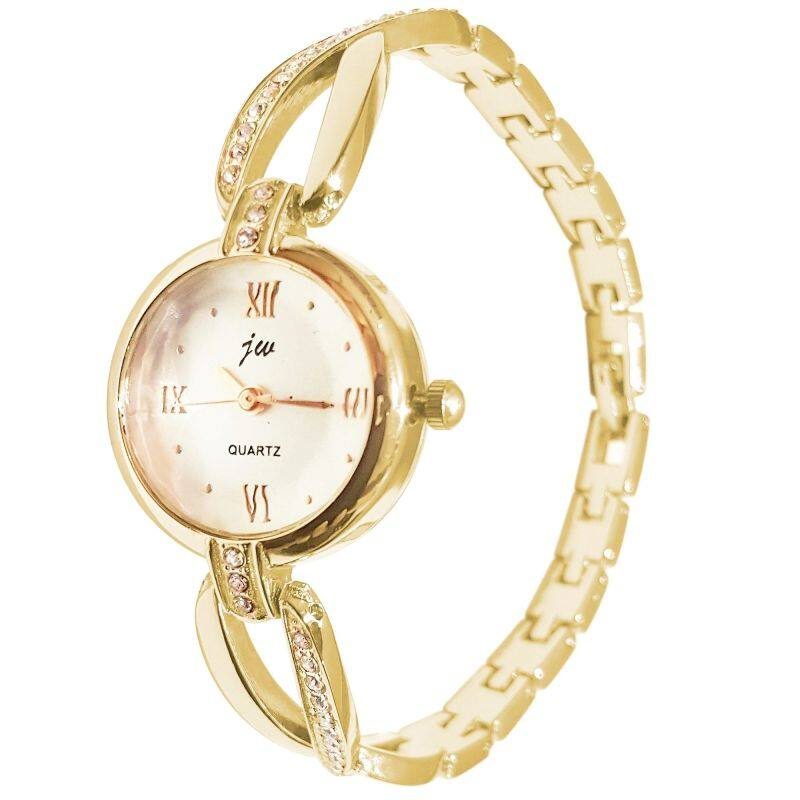 JW 0494 Casual Bracelet Woman Gold Watch + Free Watch Box Malaysia