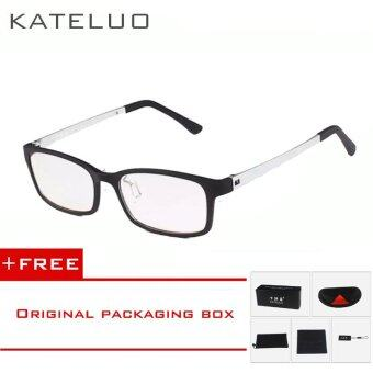 Harga KATELUO TUNGSTEN CARBON Computer Goggle Anti Blue Laser FatigueRadiation-resistant Reading Eyeglasses 1310(Silver) [ free gift ]