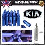 Broz Kia High Quality Aluminum Universal M12 x P1.5 Wheel Nut - Blue (20PCS)