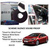 Kia K3 SCHEME SILENCE (Double D) DIY Air Tight Slim Rubber Seal Stripe Sound & Wind Proof & Sound Proof for Car (4 Doors)