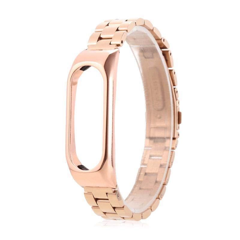 KINCO Replacement Rose Gold Bands Metal Stainless Steel Frame Wrist Strap Bracelet Wristband For XIAOMI Miband 2 Malaysia