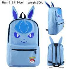 ราคา Kisnow Japan Fashion Canvas Leisure 3D Student Sch**L Travel Backpacks Color As Main Pic Blue ใหม่