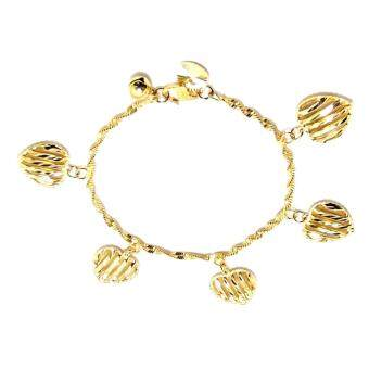 Harga KLF Apaturas Ladies Gold Plated Charm Bracelet