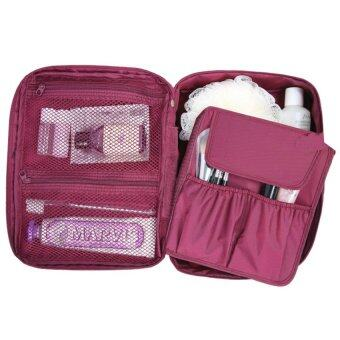 Harga Korea Fashion Multifunction Travel Toiletries Cosmetic ver.2 ExtraLarge (Wine)