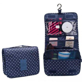 Harga Korea Fashion Travel Hanging Cosmetic Toiletries Extra Large Pouch(Upgraded version) (Pockle Dot)