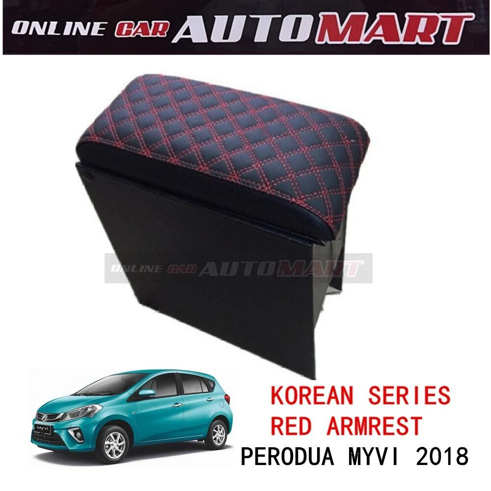 Korean Wine Series Armrest For Perodua Myvi 3rd Generation 2018