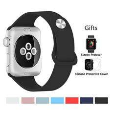 Kortusa Apple Watch Band 38mm Silicone Soft Sport Replacement iwatch Band for iWatch Series 1 Series 2 Series 3 Nike+ Sport and Edition Black Malaysia