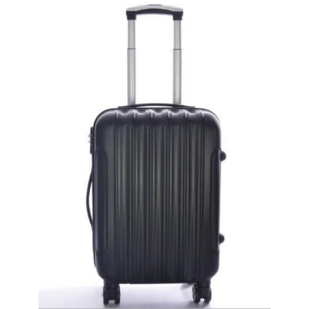 Large Stripe Travel Luggage Bag Abs Pc Holiday Beg Baggage