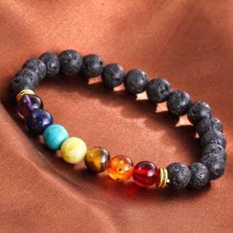 Lava Rock Beaded Yoga Gemstone Bracelets Mala Energy - 2