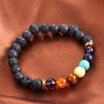 Harga Lava Rock Beaded Yoga Gemstone Bracelets Mala Energy
