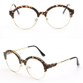 Lecco Brand Unisex Retro Aluminu Glasses Polarized Lens VintageEyewear Accessories Glasses For Men/Women (Leopard) - 2