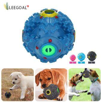 Harga Leegoal Pet Dog Squeaky Ball Made Of Tough Plastic To Train Dog IQWith Food Dispenser Slim For Dogs And Cat (M)