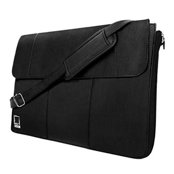 Lencca Axis 13 Slim Compact Laptop Messenger Bag Sling Bag for Lenovo Chromebook / Flex 3