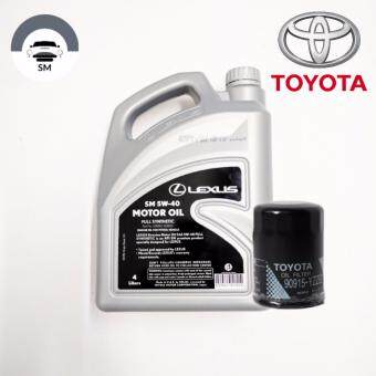 LEXUS 5W-40 Fully Synthetic Engine Oil With Toyota E2 Oil Filter(4L)