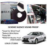 Lexus CT200H SCHEME SILENCE (Double D) DIY Air Tight Slim Rubber Seal Stripe Sound & Wind Proof & Sound Proof for Car (4 Doors)