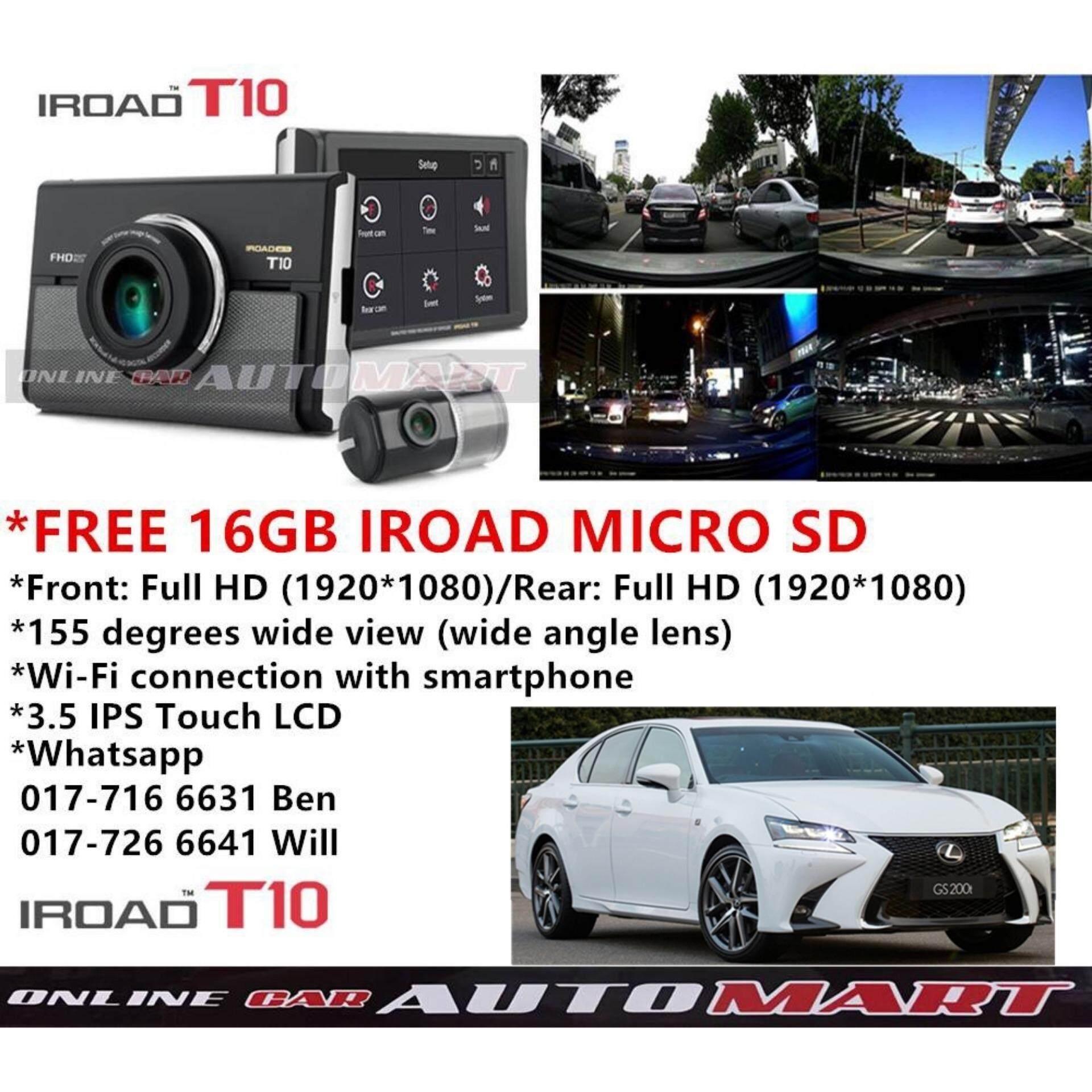Online Car Accessories Digital Camera Action Lexus Gs350 Fuse Box Gs200t Iroad T10 Wifi Lcd 2ch Blackbox Dashcam 16gb Gps