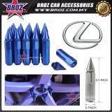 Broz Lexus High Quality Aluminum Universal M12 x P1.5 Wheel Nut - Blue (20PCS)