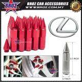 Broz Lexus High Quality Aluminum Universal M12 x P1.5 Wheel Nut - Red (20PCS)