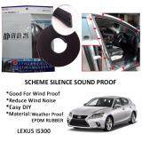 Lexus IS200/IS300/IS250/IS350 SCHEME SILENCE (Double D) DIY Air Tight Slim Rubber Seal Stripe Sound & Wind Proof & Sound Proof for Car (4 Doors)