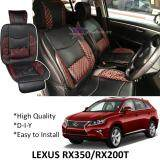 Broz Lexus RX350 / RX200T Red Lining Design Universal Car PU Seat Mat with Lumbar Support Per Piece