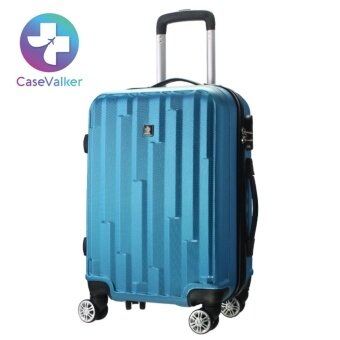 Harga [Limited Edition] Case Valker Travel Luggage TETRIS Hard Case ABSTravel Luggage Bag - 24 inches (Aqua Blue)