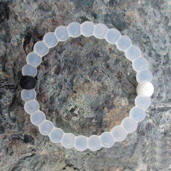 Lokai Bracelet White 4 Sizes - 3