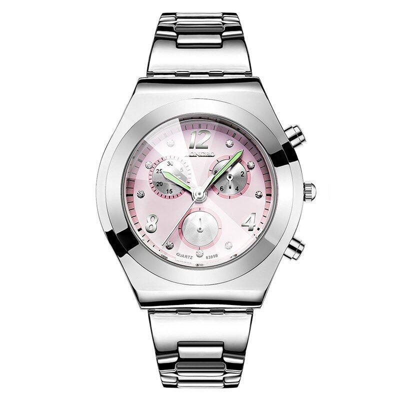 LONGBO Simple Fashion Women Three Decoration Dial Quartz Watches 397003(Pink) Malaysia