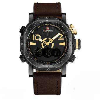 Harga Luxury Analog Signal Led Digital Clock Men Leather Quartz Watches