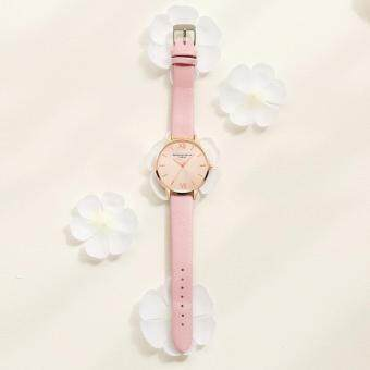 LVPAI Watches Women Quartz Wristwatch Clock Ladies Dress Gift Watches Pink