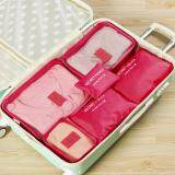 MagicWorldMall Darable Convenient 6Pcs Clothes Storage Bags Cube Travel Home Clothing Organizer Pouch\