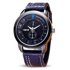 ราคา ชายวัยรุ่นแฟชั่นเข็มขัดหนังแก้วอินทรีย์นาฬิกาข้อมือควอตซ์ สี หลัก Pic นานาชาติ จีน