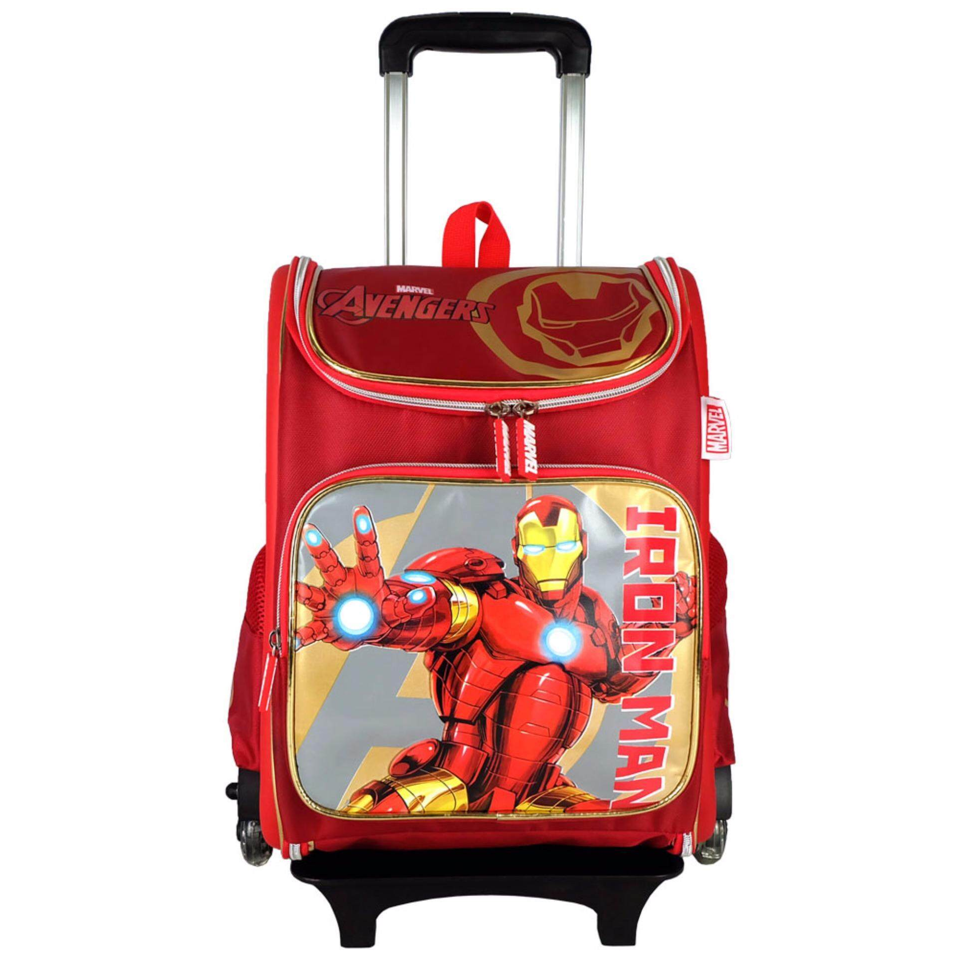 Marvel Avengers VAE1727R+HW 16 Inch EVA LED TRIO Roller Trolley School Bag- Iron Man