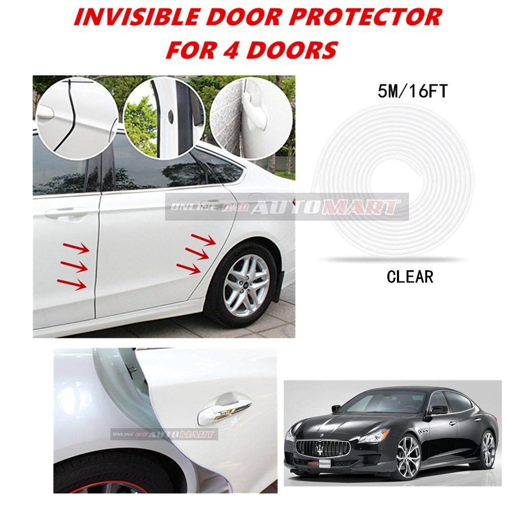 Maserati Quattroporte Sport - 16FT/5M (CLEAR) Moulding Trim Rubber Strip Auto Door Scratch Protector Car Styling Invisible Decorative Tape (4 Doors)