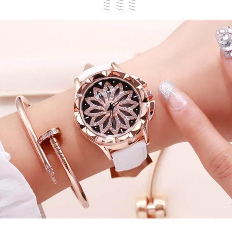 Mashali Luxury Brand 30 waterproof Leather strap women fashion watches 88115 Malaysia
