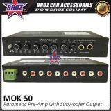 Broz Masonics MOK-50 Parametric Pre-Amp with Subwoofer Output Karaoke 4 Band Car
