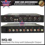 Broz Masonics MQ-40 Parametric Pre-Amp with Subwoofer Output Karaoke 4 Band Car Audio