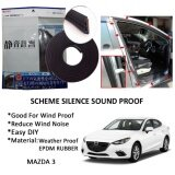 Mazda 3 SCHEME SILENCE (Double D) DIY Air Tight Slim Rubber Seal Stripe Sound & Wind Proof & Sound Proof for Car (4 Doors)