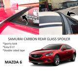 Broz Mazda 6 Samurai Carbon Rear Top Windscreen OEM Glass Spoiler (4.5cm)