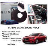 Mazda 6 SCHEME SILENCE (Double D) DIY Air Tight Slim Rubber Seal Stripe Sound & Wind Proof & Sound Proof for Car (4 Doors)