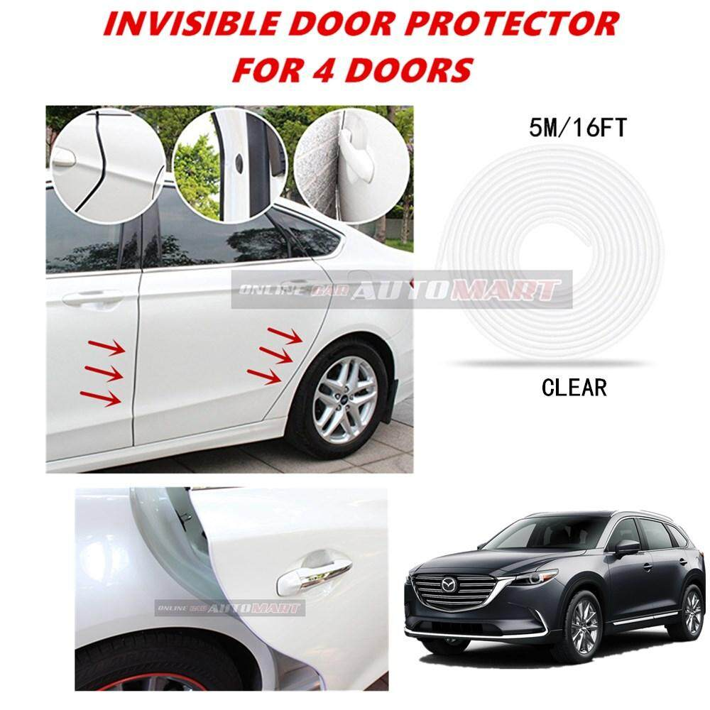 Mazda CX-9 - 16FT/5M (CLEAR) Moulding Trim Rubber Strip Auto Door Scratch Protector Car Styling Invisible Decorative Tape (4 Doors)