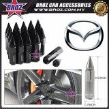 Broz Mazda High Quality Aluminum Universal M12 x P1.5 Wheel Nut - Black (20PCS)