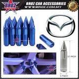 Broz Mazda High Quality Aluminum Universal M12 x P1.5 Wheel Nut - Blue (20PCS)