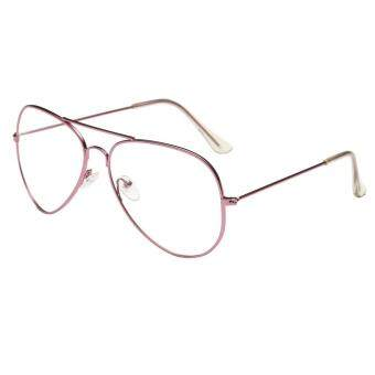 Men Women Clear Lens Glasses Metal Spectacle Frame Myopia Eyeglasses Lunette Fe