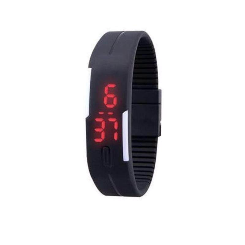 Men Women Kids Rubber LED Watch Date Sports Bracelet Digital Wrist Watch LED Watch 2016 Fashion Sport Digital Watch Silicone Running Bracelet Watch for Women Men Kids Wristwatch Malaysia