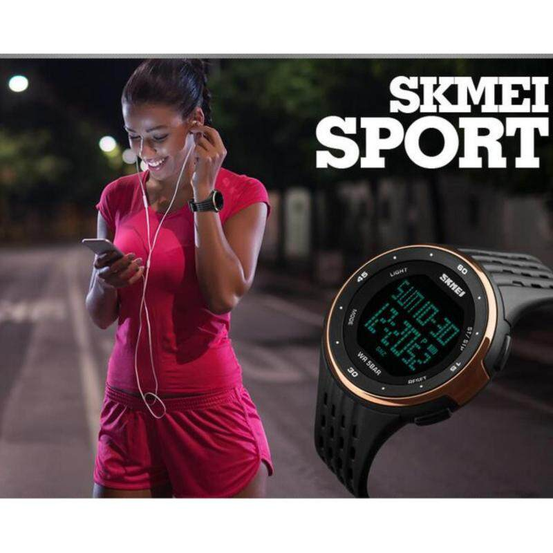 Mens Big Dial Multifunctional Waterproof Sports Digital Watch Rose Gold Malaysia