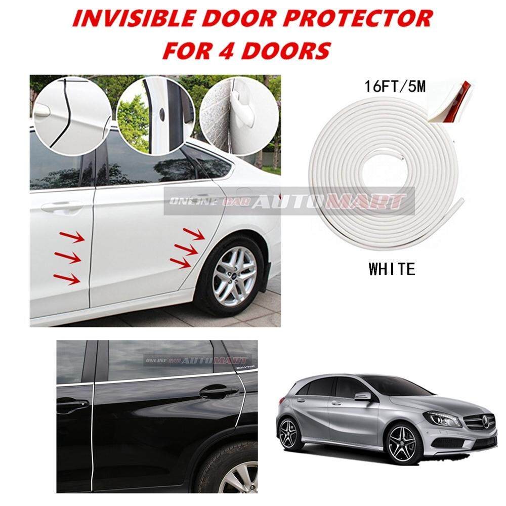 Mercedes-Benz A CLASS (A180,A250,A45) - 16FT/5M (WHITE) Moulding Trim Rubber Strip Auto Door Scratch Protector Car Styling Invisible Decorative Tape (4 Doors)