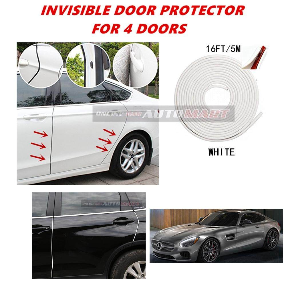 Mercedes-Benz AMG GT - 16FT/5M (WHITE) Moulding Trim Rubber Strip Auto Door Scratch Protector Car Styling Invisible Decorative Tape (4 Doors)