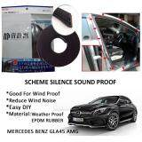 Mercedes Benz GLA45 AMG SCHEME SILENCE (Double D) DIY Air Tight Slim Rubber Seal Stripe Sound & Wind Proof & Sound Proof for Car (4 Doors)