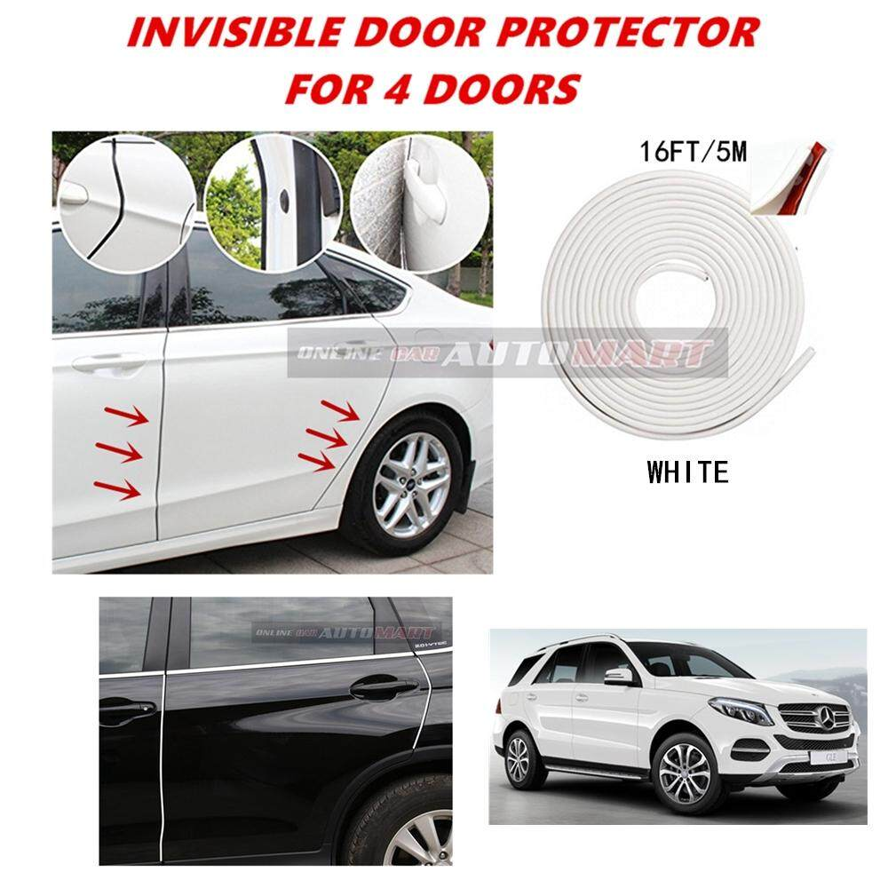 Mercedes-Benz GLE 250 - 16FT/5M (WHITE) Moulding Trim Rubber Strip Auto Door Scratch Protector Car Styling Invisible Decorative Tape (4 Doors)